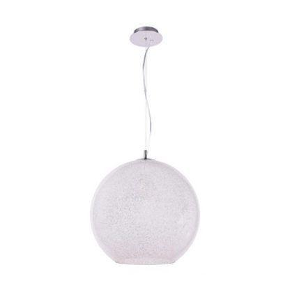 lampa wisząca z oszronionego szkła nowoczesna