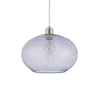 lampa wisząca z otwartym kloszem ze szkła