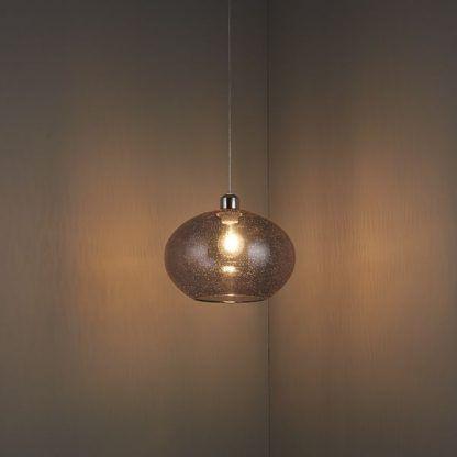 lampa wisząca z przydymionego szkła do pokoju