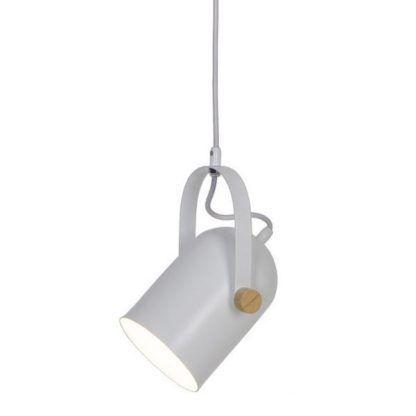 lampa wisząca z regulowanym białym kloszem