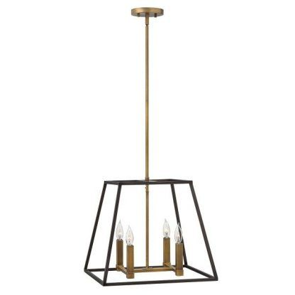 lampa wisząca z rurek - 4 żarówki na świeczniku