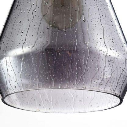 lampa wisząca z szarego szkła styl nowoczesny