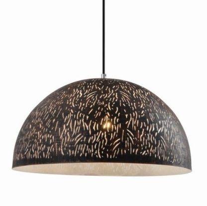 lampa wisząca z szerokim ażurowym kloszem