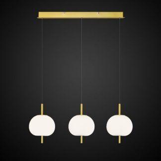 Lampa wisząca z trzema kloszami do sypialni
