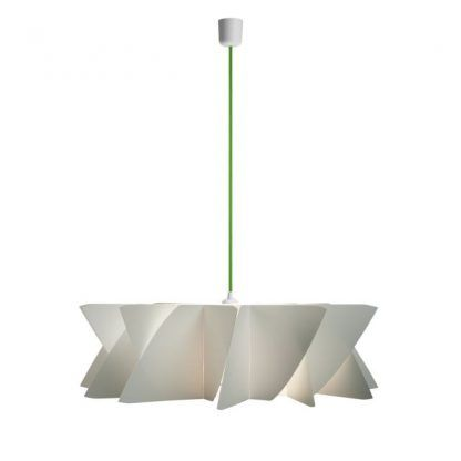 lampa wisząca z zielonym zawieszeniem - nowoczesna