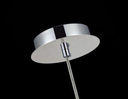 lampa wisząca ze srebrną podsufitką