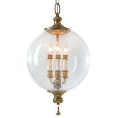 lampa wisząca ze świecznikami w kuli - styl klasyczny