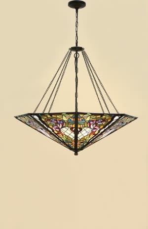 lampa wisząca ze szkła witrażowego do jadalni