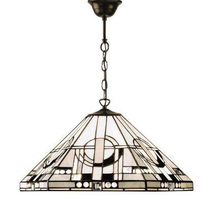 lampa wisząca ze szkła witrażowego nowoczesny wzór