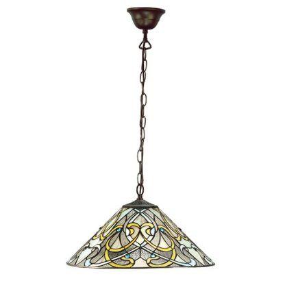 lampa wisząca ze szkła witrażowego tiffany do salonu