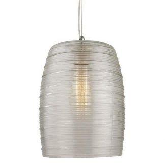 lampa wiszaca ze szklanym kloszem i widoczną żarówką
