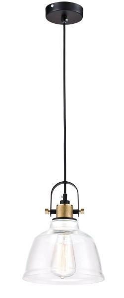 lampa wisząca ze szklanym kloszem industrialna