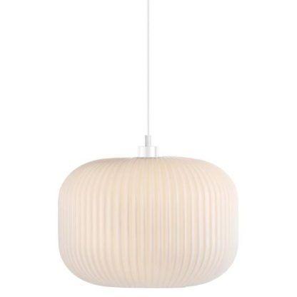 Lampa wisząca ze szklanym opalizującym kloszem
