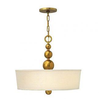 lampa wisząca ze złotymi kulami i abażurem