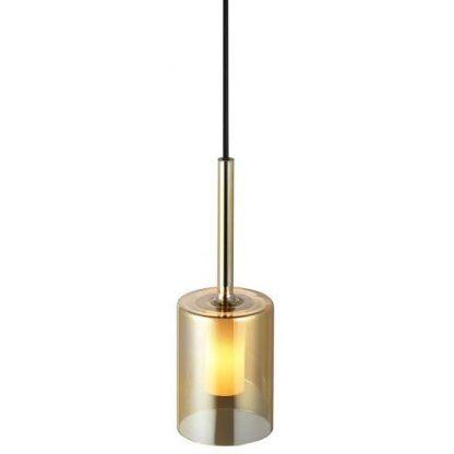 lampa wisząca złota szklana tuba