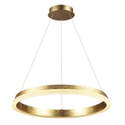 lampa wisząca złoty ring ledowy