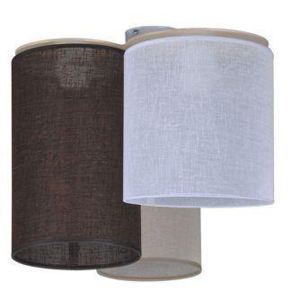 Lampa z abażurami w różnych kolorach do sypialni