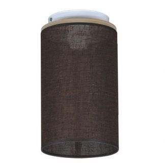 Lampa z ciemnobrązowym abażurem do sypialni