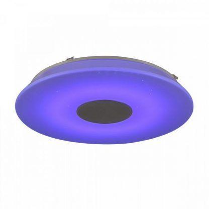 lampa z głośnikiem fioletowa nowoczesna