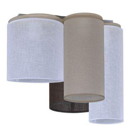 Lampa z różnokolorowymi abażurami do sypialni