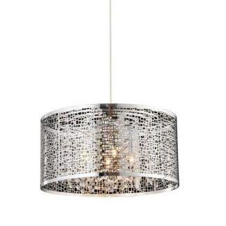 lampa ze srebrnym ażurowym kloszem