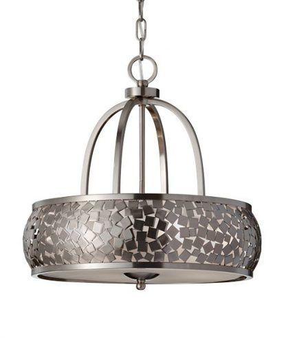 lampa ze szklanymi kwadracikami - okragła wisząca