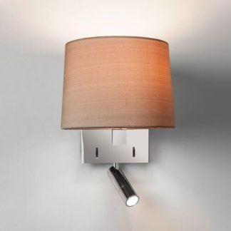 lampka nocna z reflektorkiem obracanym w kinkiecie
