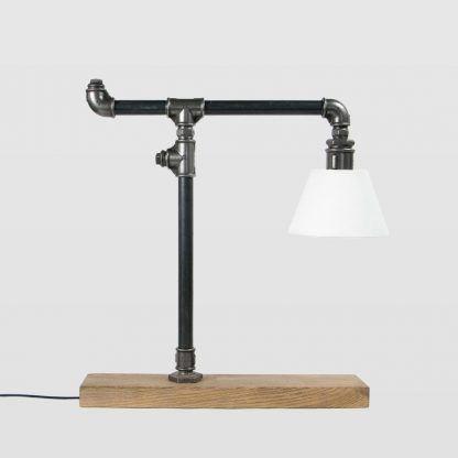 lampka stalowa z rurek - industrialna nowoczesna