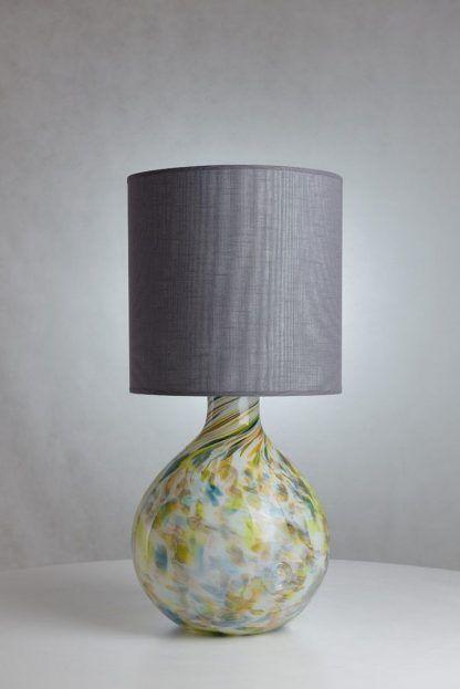 lampka stołowa z abażurem - podstawa jak kula