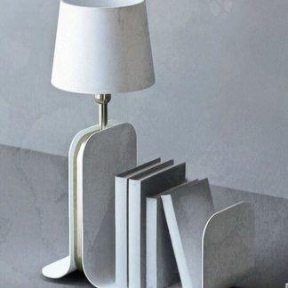 lampka stołowa z półką na książki