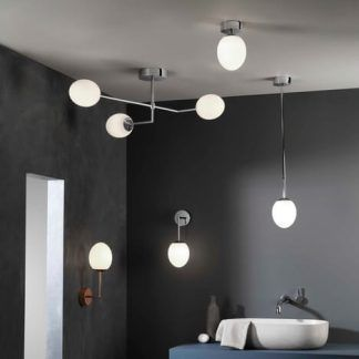lampy do łazienki srebrne kolekcja nowoczesna