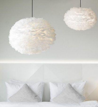 lampy do sypialni - 2 lampy wiszące nad łóżkiem
