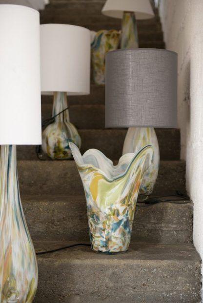 lampy stojące kolorowe szklane podstawy