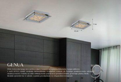 lampy sufitowe do salonu - 2 lampy aranżacje