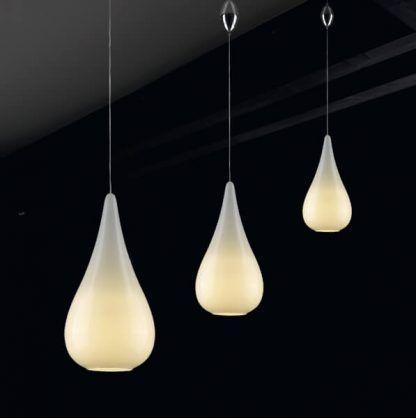 lampy wiszące białe w kształcie kropel