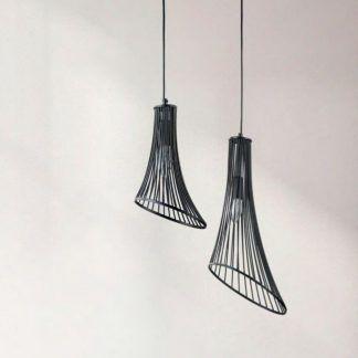 lampy wiszące do jadalni metalowe pręty