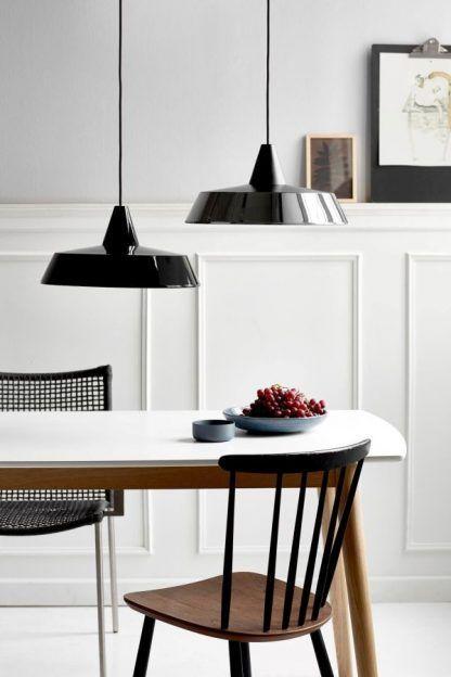 lampy wiszące do kuchni nad stół - czarne nowoczesne na kablu