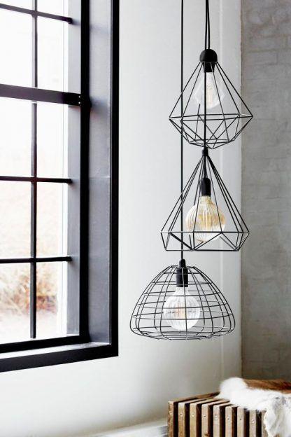 lampy wiszące z prętów różne kształty