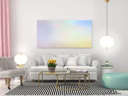 Lampy z okrągłymi kloszami w aranżacji salonu