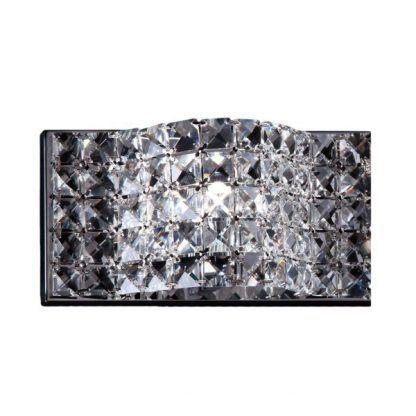 łazienkowy kinkiet z kwadratowymi kryształkami do lustra