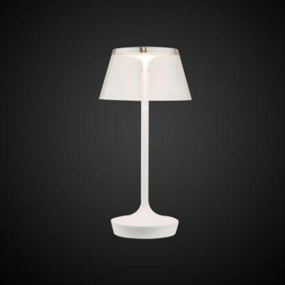 ledowa lampa stołowa biała nowoczesna