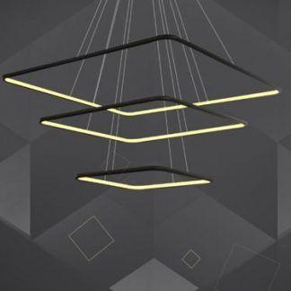 ledowa lampa wisząca czarne kwadraty