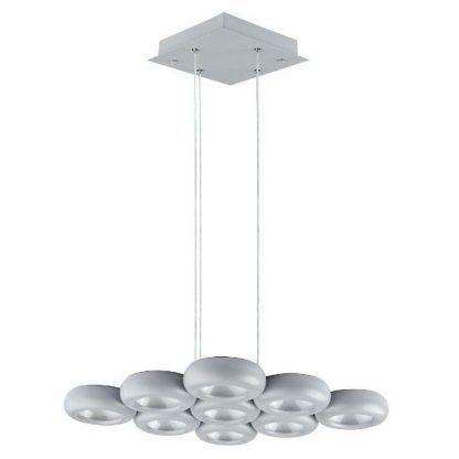 ledowa lampa z okręgami - wiszące kółka