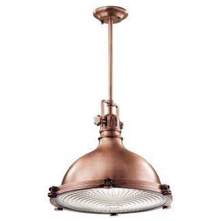 loftowa lampa wisząca miedziana - do kuchni