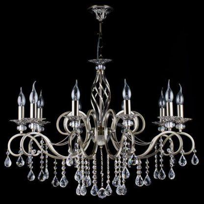 luksusowy żyrandol świecznikowy z kryształami
