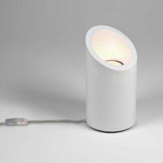 mała lampa stołowa z gipsu do pomalowania