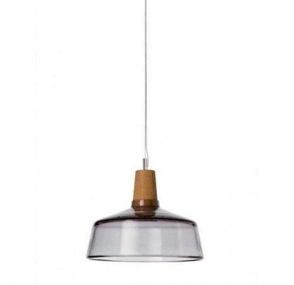 mała lampa wiszaca do jadalni z drewnem