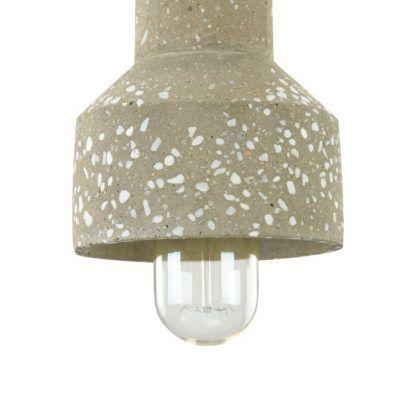 mała lampa wisząca klosz z betonu industrialna