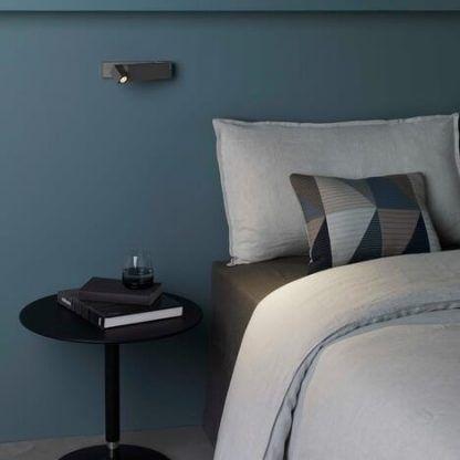 mały nowoczesny wsuwany kinkiet do sypialni i czytania