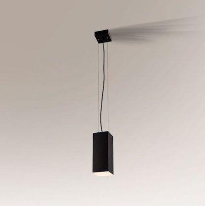metalowa czarna lampa wisząca nowoczesna bryła